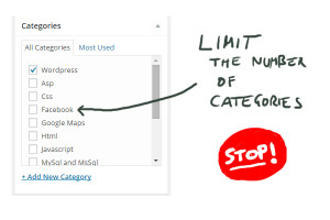 limit categories wordpress, limt to 1 category