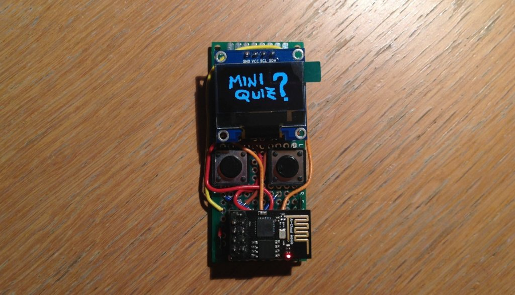 Oled e ESP8266-01, Mini Quiz