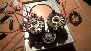 The rorary switches and the old potentiometer