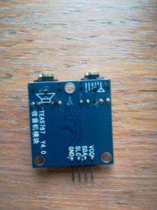 retro del modulo TEA5767 radio fm per arduino